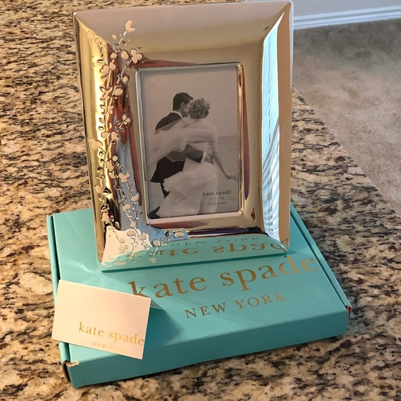 Kate Spade Accessories New In Bx Silver Picture Frame Poshmark